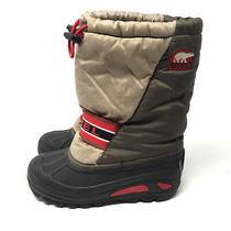 Sorel Cub Boot Little Kid Big Kid Size 3 Gray Red Weatherproof Ripstorm Nylon Photo