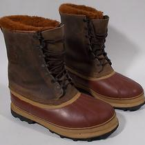 Sorel Dominator Mens Boots Size 10 Insulated Leather Rubber Heavy Snow Vintage  Photo