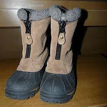 Sorel Ellesmere Women's 6m Tan Suede Leather Zip Insulated Winter Snow Boots Photo
