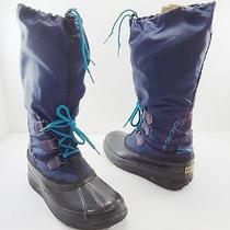 Sorel Freestyle Blue Winter Snow Insulated Duck Boots Womens 7 Made in Canada Photo