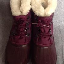 Sorel Hand Crafted Women's Size 9/9.5 Purple Lined Lace Up Winter Snow Boots Photo