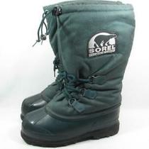 Sorel Heavy Winter Snow Boots Women Size 8 Green Canada Photo