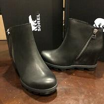 Sorel Joan of Arctic Wedge Ii Waterproof Zip Boots in Black Womens Size 6 Bnib Photo