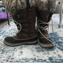 Sorel Joan of Arctic Winter Boots Faux Fur Warm Snow Waterproof Womens 8.5 Brown Photo