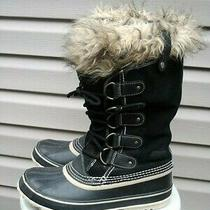 Sorel Joan of Arctic Womens Waterproof Snow Boots Size 9 Black- Pre-Owned Photo