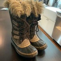 Sorel Joan of Arctic Women's Winter Brown Sued Boots Sz 6 - Lots of Wear Photo