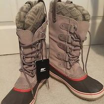 Sorel Joan of Artic Boot - Knit Fossil - Size 8 New With Tab No Box Photo