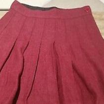 Sorel Juniors Burgundy Pleated Wool Skirt - Size Medium Photo