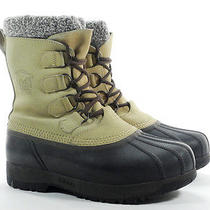 Sorel Kananaskis 10 M Womens Boots Beige Leather Rubber Insulated Winter Snow Photo