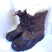 Sorel Kaufman Big Horn Boots Size 9 Mens Brown Canada Made-One Owner Photo