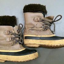 Sorel Kaufman Brown Winter Snow Duck Boots Youth Sz. 3 Felt Liner Fur Canada Photo