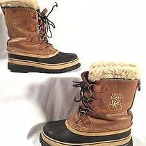 Sorel Kaufman Caribou Brown/tan Leather Insulated Winter Snow Boots Men's Sz. 10 Photo