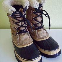 Sorel Kaufman Caribou Mens 8 Duck Boots Canada Winter Leather Insulated Photo