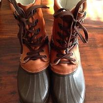 Sorel Kaufman Mens 10 Waterproof Rubber Leather Insulated Winter Snow Boots Photo