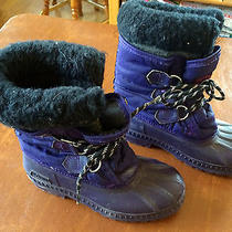Sorel Kaufman Purple Duck Boots Youth Size 3 Rubber/nylon Removable Liner Photo