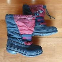Sorel Kids 12 Winter Snow Boots Insulated Removable Liner Waterproof Red Photo