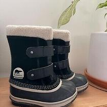 Sorel Kids Girls Pac Strap Snow Boots W Sherpa Cuff Waterproof Sz 10 Photo