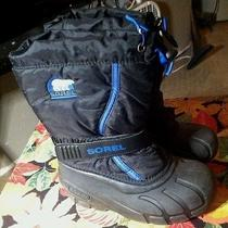 Sorel Kids's Flurry Tp Winter Boot Black / Blue Size 13  Photo