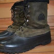 Sorel Made in Usa Mens Us12 Eu46 Brown Leather Waterproof Insulated Winter Boots Photo