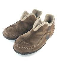 Sorel Manawan Brown Suede House Casual Slippers Shoes Nm1466-251 Us 10 Photo