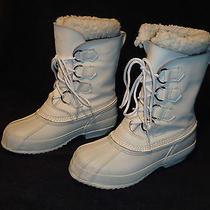 Sorel Manitou Kaufman Snow Winter Boots Women's Size 6 White Excellent Condtion  Photo