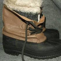Sorel Manitou Taupe Leather Insulated Boots 6 Photo