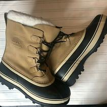 Sorel Men's Size 12 Caribou Snow Boot Buff Waterproof Impermeable New  Photo