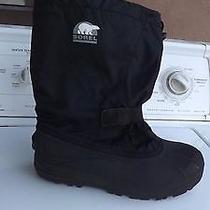 Sorel Men's Snow Otter Black Winter Snow Boots Size 7 Photo