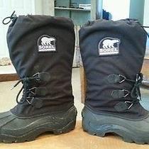 Sorel Mens Black Winter Boots Size 7 Photo