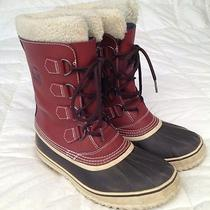 Sorel Mens Leather Boots-Sz 9 in Great Shape for Winter Fun  Photo