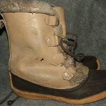 Sorel Nanook Brown Leather Insulated Boots 9  Photo