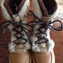 Sorel Nanook Womens 5 Waterproof Rubber Leather Insulated Winter Snow Boots Photo