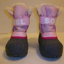 Sorel Pink Snow Boots Kids Size 13 Photo