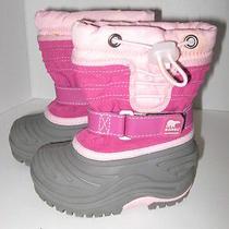 Sorel Pink Winter Insulated Waterproof Snow Boots Girls 6 23 Photo