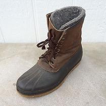 Sorel Rubber & Leather Insulated Winter Boots - Mens Size 12  Photo