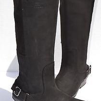 Sorel Slimboot Waterproof Tall Black Boots Size 8.5 Photo