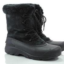 Sorel Snow Bird 9.5 M Womens Boots Black Insulated Leather Faux Fur Winter Euc Photo