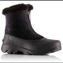 Sorel Snow Boots Angela Black Winter Women Snow Boots Size 5 M Nwob Photo