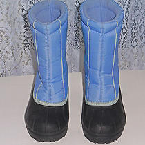 Sorel Snow Boots Snow Command Size 4 Blue With Black  Photo