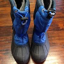 Sorel Snow Pack Kids Insulated Winter Snow Boots Euc Size 2 Photo