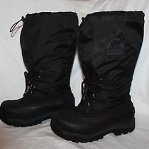 Sorel Snowlion Winter Boots Womens 8 Black Nl 1080 Photo