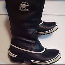 Sorel  Sorelli Tall  Waterproof Insulatedleather-Rubber Black Pre-owned.vguc Photo