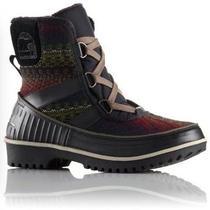 Sorel Tivoli Ii Boots Black Stripe Blanket Short Boots Size 7  Photo