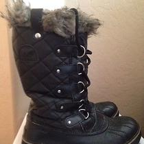 Sorel 'Tofino' Black Quilted Snow Water Proof Boot Sz 8 Photo