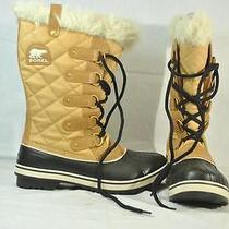 Sorel Tofino Cate Womens Size 10 Waterproof Boot Curry Black -New Photo