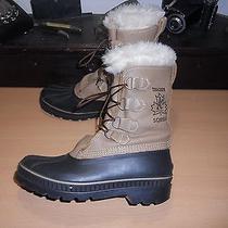 Sorel Trackerinsulated & Waterproof Leather Winter Pac Boots Men's Sz 7 Nice Photo
