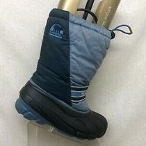 Sorel Two Tone Blue Canvas Comfort Waterproof Lace Up Winter Boots Mens Size 6 M Photo