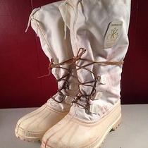 Sorel White Winter Boots Snowbear Liner Insulated Men's 9 Snow % Wool Blizzard Photo
