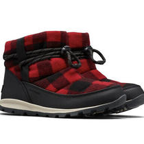 Sorel Whitney Short Boots  Size 7.5 130 Red Plaid Waterproof Winter 200g Photo