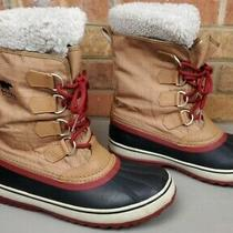 Sorel Winter Carnival Women's Winter Snow Boot Nl1495-286 Brown Faux Fur Size 8 Photo